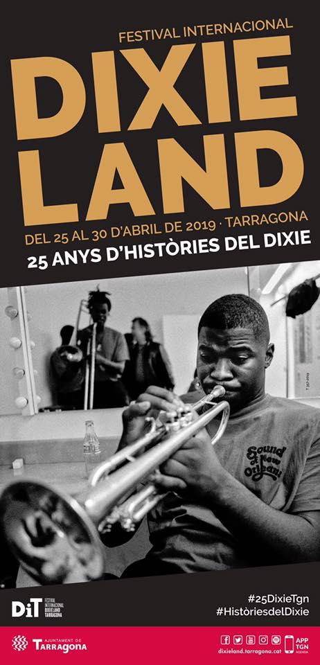 Cartell de la XXV edició Festival Internacional Dixieland de Tarragona 2019