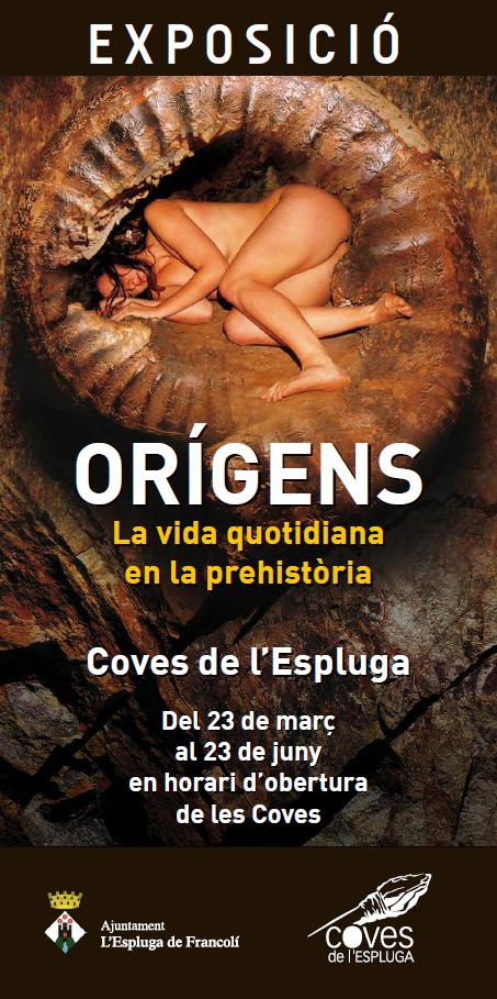 Cartell de Exposició fotogràfica Orígens: la vida quotidiana en la prehistòria