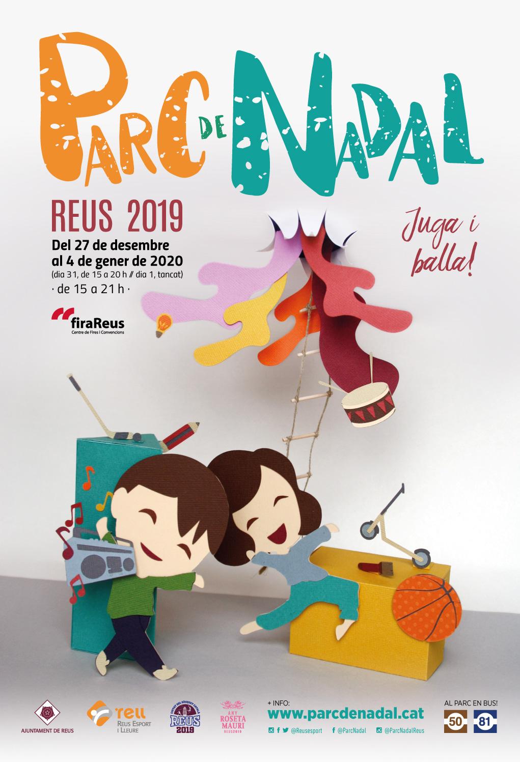 Cartell del Parc de Nadal de Reus 2019